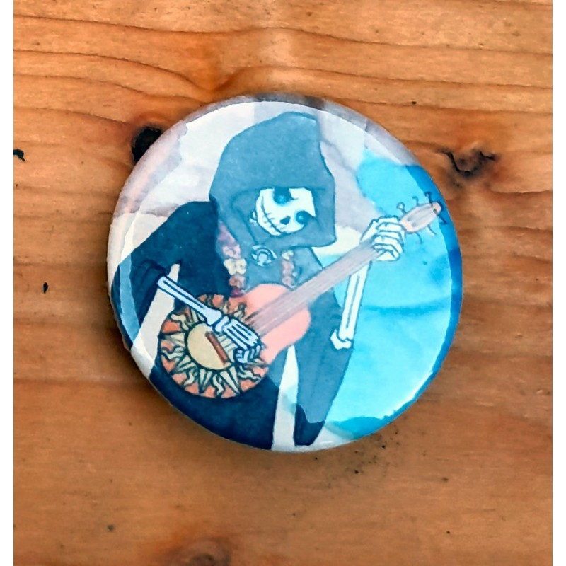 "Button ""Tod am Strand"""